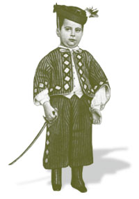 Marcelino Menéndez Pelayo at 6 years old, disguised.